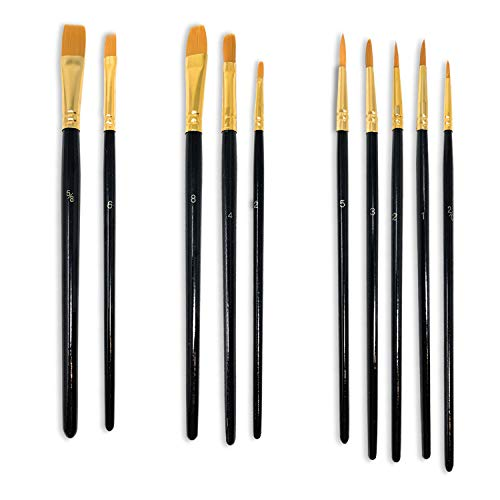 Paint Brush Set MSC 10pc Set Ideal for Adults and Kids Supplies for Water...