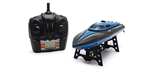 MeterMall H100 Katamaran RC Radio Fernbedienung Racing Boot 2,4 GHz 4CH High Speed ??RC Boot mit LCD