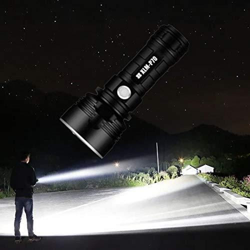 30000-100000 Lumen Hochleistungs-led-wasserdichte Taschenlampenlampe Ultrahell, Drei Beleuchtungsmodi, Usb-aufladung, Wiederaufladbarer Akku (P70 / 50W)