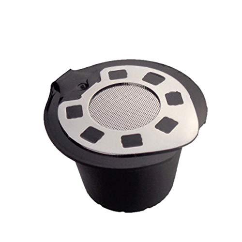 Blentude 5 Stück Wiederverwendbare Kapsel Edelstahldeckel verchromt nachfüllbar - Kaffeepads für Nespresso-Kaffeemaschinen