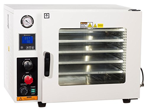 Across International AT19-UL.220 Ai Accutemp UL CSA Certified 1.9 cu ft Vacuum Oven with 5 Sided Heating 220V Purging Oven with LCD Control, Gas Back-Fill Capability, Stainless Steel