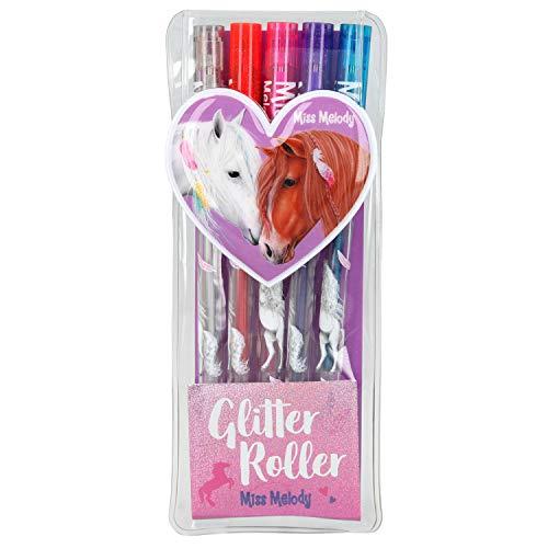 Depesche 6549 Glitter Gelstifte Set, Miss Melody, 5er Etui