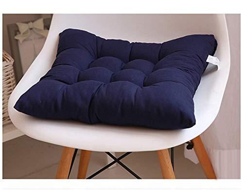 GELing Gepolstertes Sitzkissen Stuhlauflage Sitzpolster Stuhl Für Haus Gartenmöbel Deko Marine 45X45CM
