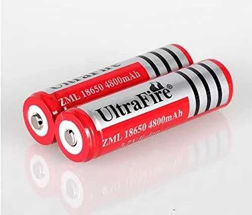 Pilas de iones de litio 18650 recargables, baterías de iones de litio, 4800 mAh, 3,7 V, ICR, baterías de litio para linterna de bolsillo (2 unidades)