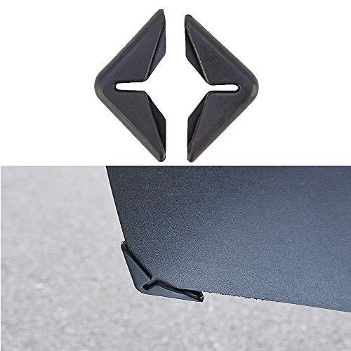 Aizhen 2 unids negro coche puerta protección parachoques anti colisión protector coche choque bar anti frotar tira decorativa