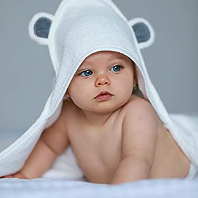 Organic Bamboo Baby Hooded Towel by Annabel & Adrien   Super-Soft and Ultra-Absorbent   Perfect for Your Babies and Infants   Premium Gifts for All Occasions