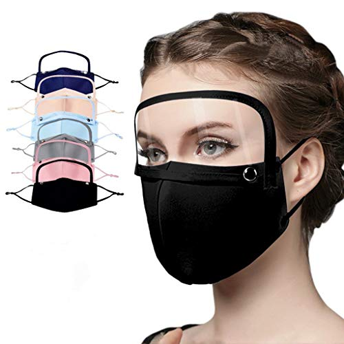 Face maks Bandanas with Separable Eyes Shield Reusable Breathable Facr Masl Full Protection Cotton Face maks Indoors Outdoors for Adults