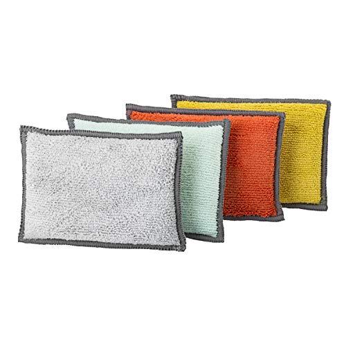 VIGAR Esponja Doble Cara-Pack de 4 Unidades, Microfibra-Material súper Absorbente y Suave al Tacto, Mediano