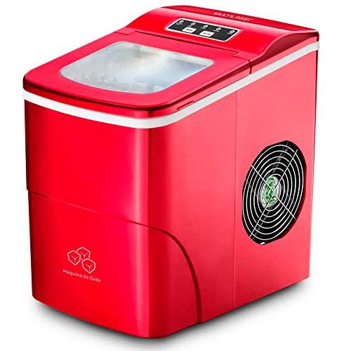 Máquina de Gelo Multilaser 127V 2 Litros 100W Vermelha - HO069
