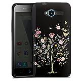 DeinDesign Silikon Hülle kompatibel mit ZTE Blade L3 Hülle schwarz Handyhülle Schmetterling Natur Blumen