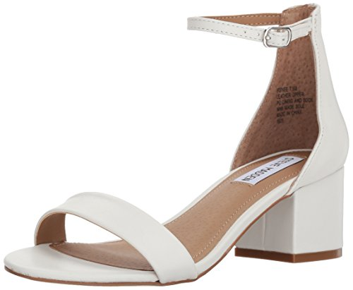 Steve Madden Women's Irenee Heeled Sandal, white leather, 7.5