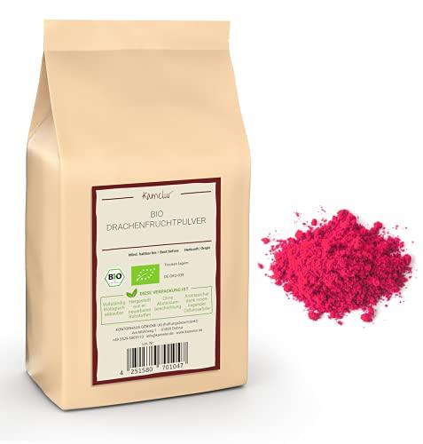 250g BIO Drachenfrucht Pulver - Pitaya Pulver pink, gefriergetrocknet und ohne Zusätze - in biologisch abbaubarer Verpackung