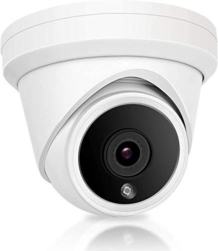 Anpviz Telecamera di sicurezza a cupola IP POE, 5MP HD Telecamera di sorveglianza esterna per uso domestico, Visione notturna, Rilevazione del movimento, Telecamera impermeabile IP66