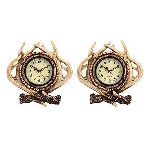 Gazechimp Adorno Decorativo de de Diseño Vintage de Reloj Despertador de Asta Decorativa