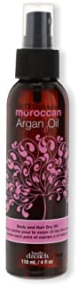 Body Drench Moroccan Argan Oil Body and Hair Dry Oil for All Skin and Hair Types, 4 oz