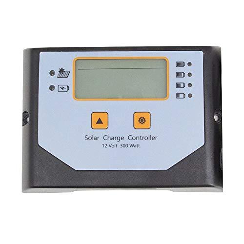 ZBF Controlador de Carga Solar de 12V PWM 300W Bluetooth Bluetooth Bluetooth Solar regulador PV Inicio Batería Cargador LCD Diseño de Pantalla
