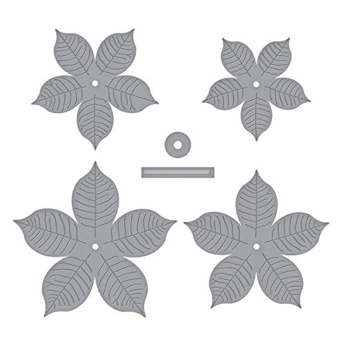 Spellbinders Shapeabilities Cinch and Go Poinsettia grabado/oblea fina troquelada, metal