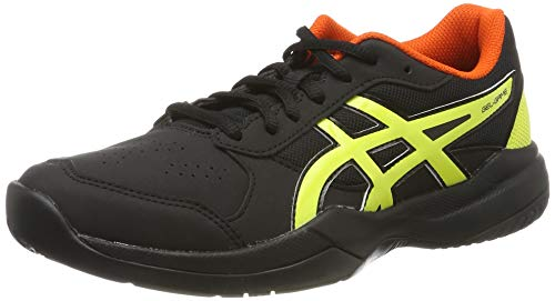 ASICS Unisex-Kinder Gel-Game 7 GS Tennisschuhe, Schwarz (Black/Sour Yuzu 011), 37 EU