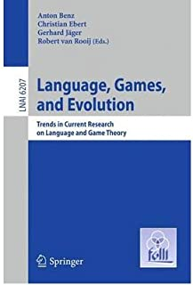 [(Language, Games, and Evolution )] [Author: Anton Benz] [May-2011]