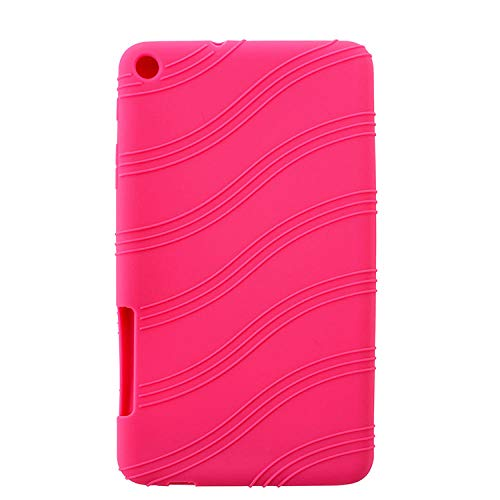Per Huawei MediaPad T1 7.0 T1-701 T1-701U / T2 7.0 Custodia per tablet BGO-DL09 BGO-L03 Custodia per cover posteriore in morbido silicone TPU-Rosa rossa