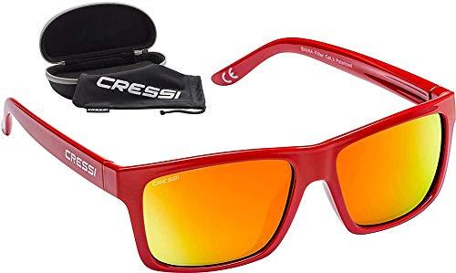 Cressi Bahia Flotantes Sunglasses Gafas De Sol Deportivo, Unisex adulto, Rojo/Naranja Lentes espejados