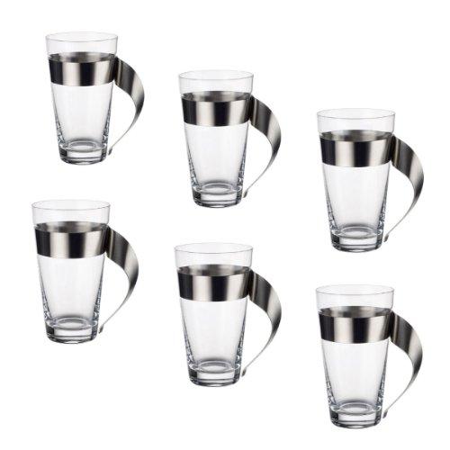 Villeroy & Boch 11-3737-3421 NewWave Caffe Latte Macchiato Glas-Set 6-teilig, 0.3 l