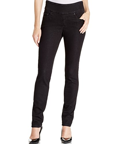 Jag Jeans Women's Nora Mid Rise Skinny Pull-On Jeans, Black Void, 10