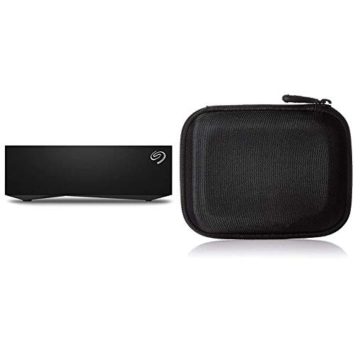 Seagate Desktop 8 TB External Hard Drive HDD – USB 3.0 for PC Laptop and Mac (STGY8000400) - Amazon Exclusive & Amazon Basics Hard Black Carrying Case for My Passport Essential