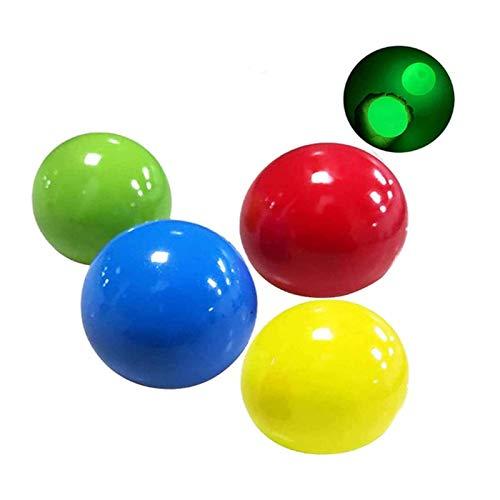 Rainbow Color Anti Stress Reliever Balls, 6pcs bola de destino pegajosa entre padres e hijos juguete interactivo para niños fluorescente luminosa descompresión ventilación techo pared pegajosa bola pe