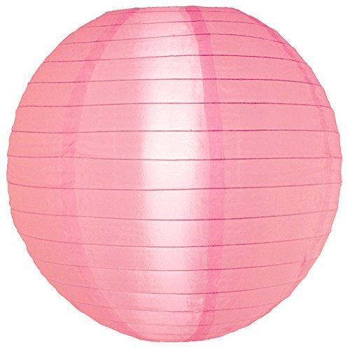 "Quasimoon PaperLanternStore.com 10"" Pink Nylon Lantern, Durable Hanging Decoration"