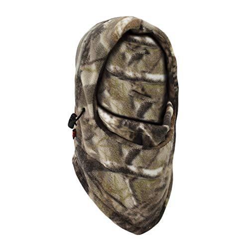 Queenbox Pasamontañas de Camuflaje Máscara Facial Completa Gorro Sombrero Tactical Militar a Prueba de Viento para Hombres Mujeres Deportes al Aire Libre Senderismo Motocicleta, Camo 02