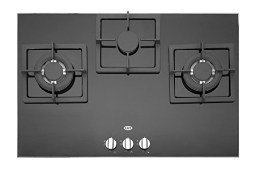 KAFF Tempered Glass 3 Burner Hob Black - NQ 770 BG