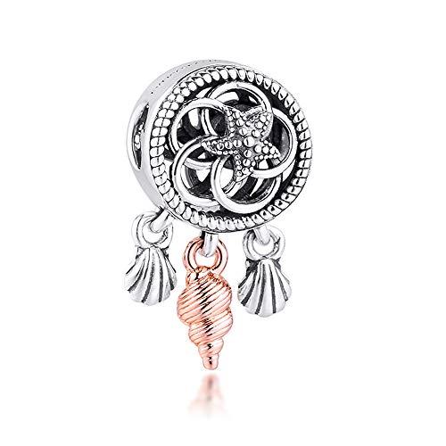 BAKCCI 2020 - Ciondolo a forma di conchiglia, in argento 925, adatto per braccialetti Pandora originali e alla moda