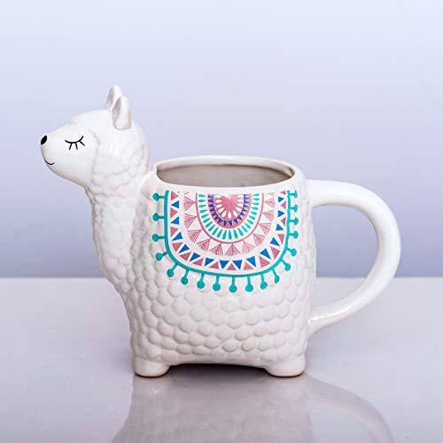 Fluffy Dreams – Die große Lama-Alpaka 3D Tasse Becher Mug aus Keramik | handbemalter Trendartikel für Lama-Alpaka Liebhaber | fasst ca.350 ml Kaffee, Tee, Kakao in Geschenkverpackung