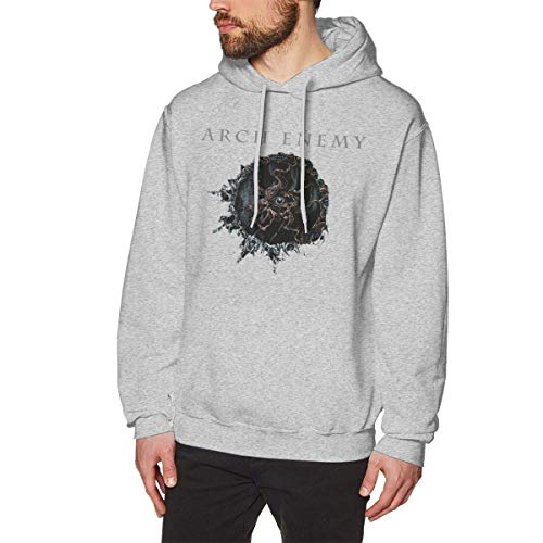 Homme Sweats à Capuche, Sweat-Shirt à Capuche, Arch Enemy Men's Hoodie Sweatshirt Heavyweight Casual Long Sleeve Tshirt