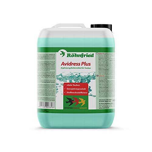 Röhnfried Avidress Plus 5000 ml | Senkt das Infektionsrisiko im Trinkwasser für Tauben | Enthält Mineralien, Oregano und Zimt