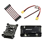 FEICHAO Shock Absorber with APM 2.8 Multicopter Flight Controller Built-in Compass Bend Pin / Straight Pin + Power Module + Extension Cable for DIY RC Drone Aircraft (Bend Pin)