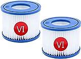 ZJC Cartucho de filtro para piscina tamaño VI para Bestway, tamaño 6-58323, tamaño 6 para Lay-Z-Spa Miami, para filtro de repuesto para piscinas hinchables para vegas, Monaco (2)