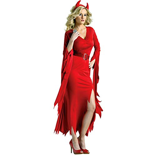 LNC-QQNY Lenceria Sexy Disfraz de Bruja Sexy Vampire Devil Costume Juego de rol Uniforme de Disfraces de Halloween Europa y América