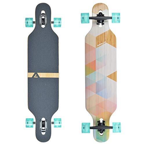 Apollo Longboard Nauro - TwinTip Drop-Through Bamboo Komplettboard