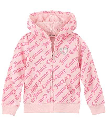 Juicy Couture Girls' Little Hoodie, Pink Print, 5