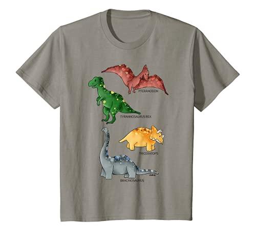 Kinder Dinosaurier T-Shirt Jungen Mädchen Dinos Tyrannosaurus T-Shirt