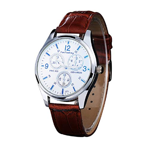 Armbanduhr LANOWO FüR MäNner S S Mode Kunstleder Band Analog Kleid Armband Armbanduhr Verkaufen Sich Wie Warme Semmeln Watch