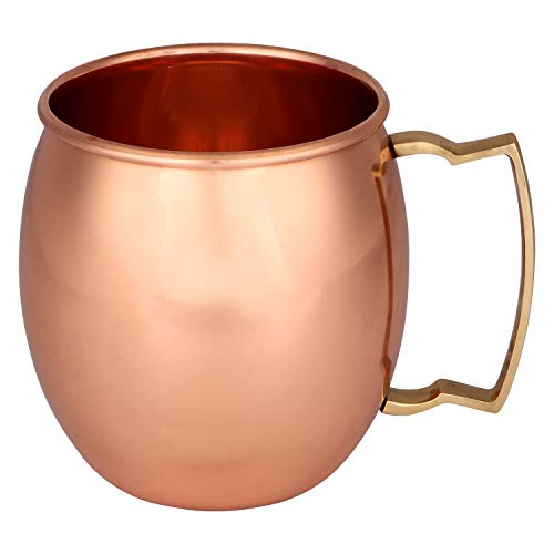 Zap Impex Pure Copper Plain Moscow Mule mugs, Non-Coated, Ideal for all Chilled Drinks Bar or Home Best Gift Set of 4
