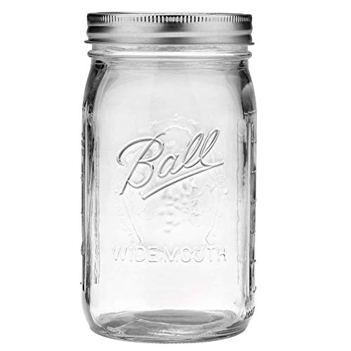Ball Wide Mouth Quart 32-Ounces Mason Jar with Lid and Band