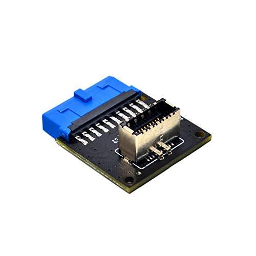 Mogzank Conectores de Computadora USB 3.1 Panel Frontal Toma de PC a USB 3.0 Adaptador de ExtensióN de Encabezado de 20 Pines para Placa Base PW-INC1TR