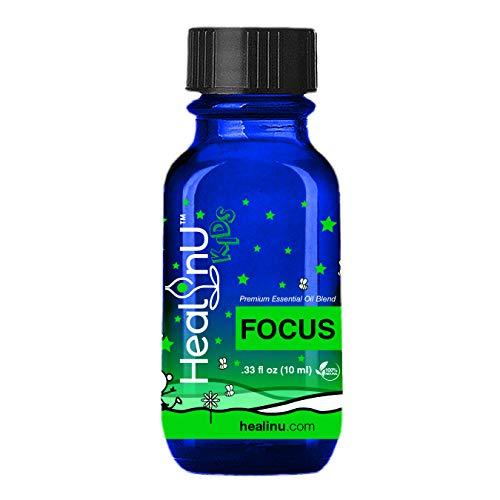 Healinu Kids Focus - Focus and Concentration Essential Oil...