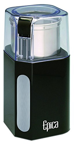 Epica Electric Coffee Grinder & Spice Grinder -Stainless Steel Blades and Removable Grinding Cup for Easy Pouring- Strongest Motor on the Market For...