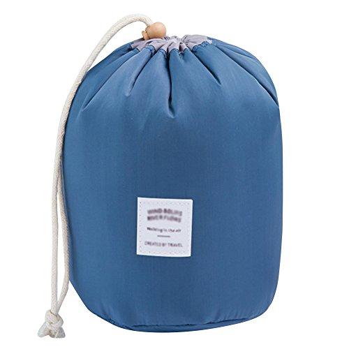 Bodhi2000 Trousse de toilette et maquillage avec cordon de serrage et petite pochette pour les voyages noir foncé taille unique