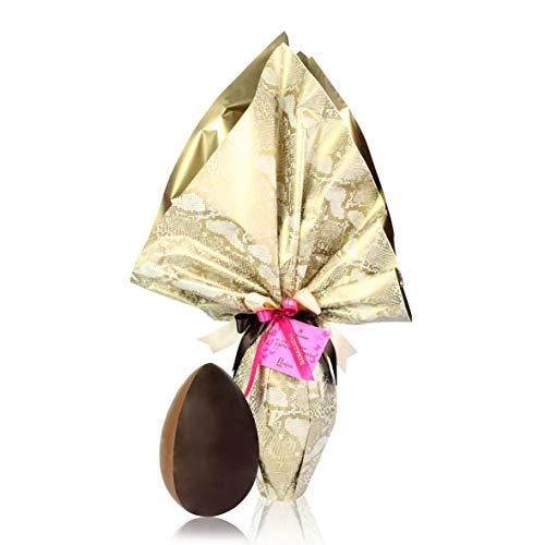 Rinaldini Uovo di Cioccolato al Latte E Caramello, Cacao Min 35%, Uovo di Pasqua Confezionato A...